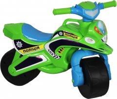 Беговел Active Baby Police музыкальный зелено/голубой (0139-0152М)