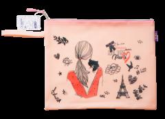 Папка для тетрадей ZiBi A4 Romantic розовая (ZB.705515)