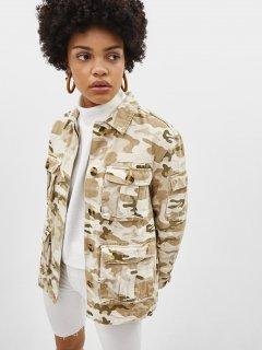 Джинсовая куртка Bershka 1331388746-AAED L Милитари (3000002773527)