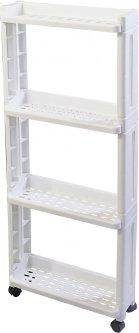 Этажерка Supretto для ванной комнаты на 4 полки Белая (6018-0001)