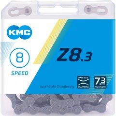 Цепь велосипедная KMC Z8.3 с замком 116 звеньев 8 звезд Grey (Z8.3GG)