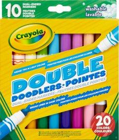 Набор фломастеров Crayola Washable Двусторонние 10 шт (256347.012) (0071662083113)
