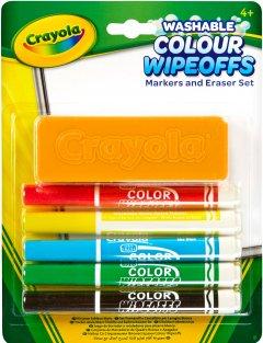 Набор фломастеров Crayola Washable для сухого стирания с щеткой 5 шт (256417.012) (0071662093020)