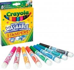 Набор фломастеров Crayola Ultra-Clean Washable с мини штампами 8 шт (256343.012) (0071662081294)