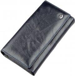 Кошелек кожаный ST Leather Accessories 18880 Серо-синий
