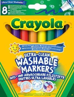Набор фломастеров Crayola Ultra-Clean Washable широкая линия 8 шт (256348.012) (0071662083281)