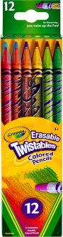 Набор карандашей двусторонних Crayola Твист с ластиком 12 шт (256360.024) (0071662027582)