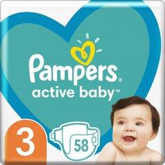 Подгузники Pampers Active Baby Размер 3 (Midi) 6-10 кг 58 шт (8001090949707)