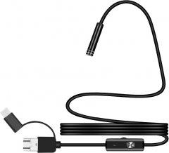 Эндоскоп Voltronic HD 2 in 1 MicroUSB/PC мягкий провод 2 м (15935)