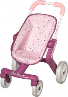 Коляска Smoby Toys Baby Nurse Прованс Прогулка с поворотными колесами (251203) (3032162512036)