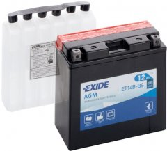 Мото аккумулятор Exide AGM 12 Ah (+/-) 190EN (ET14B-BS)