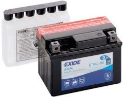 Мото аккумулятор Exide AGM 3 Ah Ев (-/+) 50EN (ETX4L-BS)