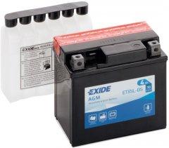 Мото аккумулятор Exide AGM 4 Ah Ев (-/+) 70EN (ETX5L-BS)