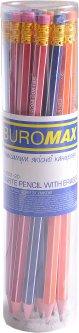 Набор графитовых карандашей Buromax Graphit НВ с ластиком 20 шт (BM.8503-20)