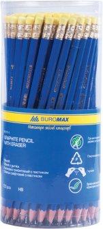 Набор графитовых карандашей Buromax НВ пластиковый с ластиком 100 шт (BM.8514)