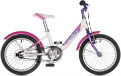 """Велосипед Author Bello II 16"""" рама 9"""" 2021 Белый/фиолетовый (2021006)"""