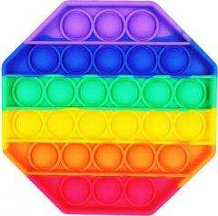 Игрушка антистресс Pop it rainbow Вечная пупырка восьмиугольник (popit8) (4820176273031)