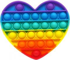 Игрушка антистресс Pop it rainbow Вечная пупырка Сердце (popitheart) (4820176273048)