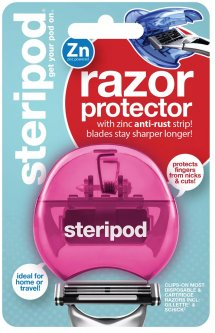 Защитный чехол для бритвы Steripod с цинковой антикоррозийной полоской розовый (754349912226) (91222)