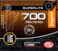 Велокамера Author AT-ROAD-700C SuperLite FV60 700x18/25C Черная (37270202)