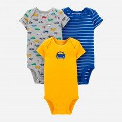 Боди-футболка Carters 1H542210 72-76 см 3 шт Мультиколор (192136733928)