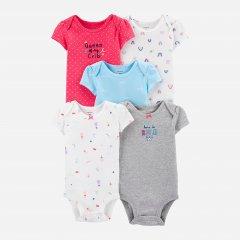 Боди-футболка Carters 17635810 69-72 см 5 шт Мультиколор (192135964019)