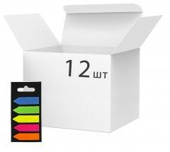 Набор стикеров-закладок пластиковых KLERK Стрелка 45 х 12 мм 5 х 20 листов х 12 упаковок 5 цветов (Я45850_KL21531_12)