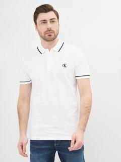 Поло Calvin Klein Jeans Tipping Slim Polo J30J315603-YAF L Ck White (8719852967110)