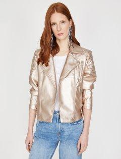 Куртка из искусственной кожи Koton 9YAK08969GW-250 42 Rose (8681976184103)