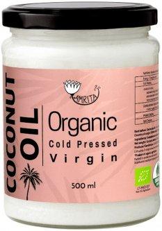 Кокосовое масло Amrita холодного отжима органическая 0.5 л (4771544221997)