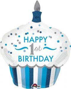 Шарик воздушный Amscan 1st Birthday Cupcake Boy P40 73x91 см (3452301)