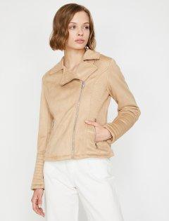 Куртка из искусственной замши Koton 0KAK23757GW-093 40 Skin (8681972176355)