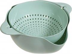 Двойной дуршлаг Supretto для мытья и просушивания фруктов Мятный (5754-0005)