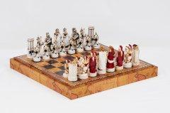 Шахові фігури Nigri Scacchi Троянська битва Маленький розмір 32 фігури (SP69)