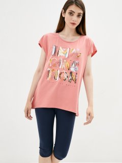 Комплект (футболка + бриджи) ROZA 210236 2XL Коралловый (4824005614385)
