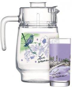 Набор для напитков Luminarc Love Romance Purple 7 предметов (Q5667)