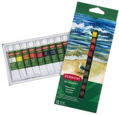 Набор акварельных красок Derwent Academy 12 цветов 12 мл (2302404)