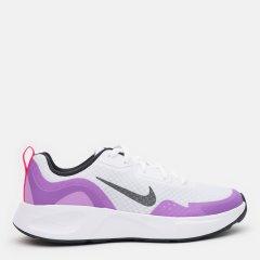 Кроссовки детские Nike Wearallday (Gs) CJ3816-103 38 (5.5Y) 24 см Белые с фиолетовым (194957439416)