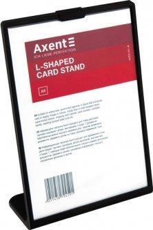 Табличка информационная Axent А6 односторонняя L-образная 105 х 148 мм Черная (6252-01-A)