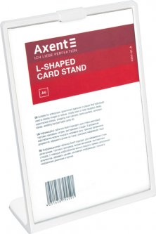 Табличка информационная Axent А6 односторонняя L-образная 105 х 148 мм Белая (6252-21-A)