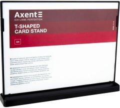 Табличка информационная Axent А4 двусторонняя 297 х 210 мм Черная (6265-01-A)