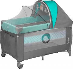 Кроватка-манеж Lionelo Sven Plus Turquoise-grey (LO.SV01) (5902581650603)