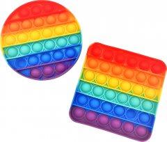 Игрушка-антистресс Pop-it QL042978-2 круг + квадрат радуга (QL042978_2) (2218062021190)