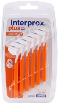 Щетки Dentaid для межзубных промежутков Interprox Super Micro Plus 2G 0.7 мм 6 шт (8427426006300)