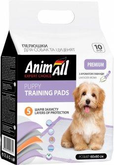 Пеленки для собак AnimAll 60х60 см с ароматом лаванды 10 шт (4820224500720)