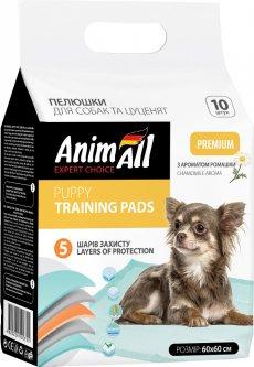 Пеленки для собак AnimAll 60х60 см с ароматом ромашки 10 шт (4820224500744)