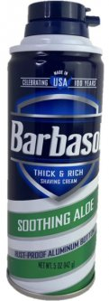 Крем-пена для бритья Barbasol Soothing Aloe Shaving с алоэ для сухой кожи 147 г (051009003066)