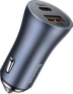 Автомобильное зарядное устройство Baseus Golden Contactor Pro 40W USB + Type-C (CCJD-0G)