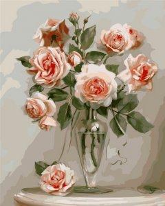 Картина по номерам Bookopt Нежные розы 50х40 см (bk_1117) (2252523081013)
