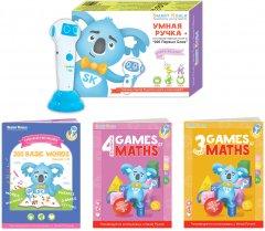 Стартовый набор Smart Koala + Книга Интерактивная Smart Koala English (1 сезон) + Игры математики (3, 4 сезон) (SKS0BW1GM34)